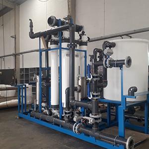 Instalação hidráulica industrial